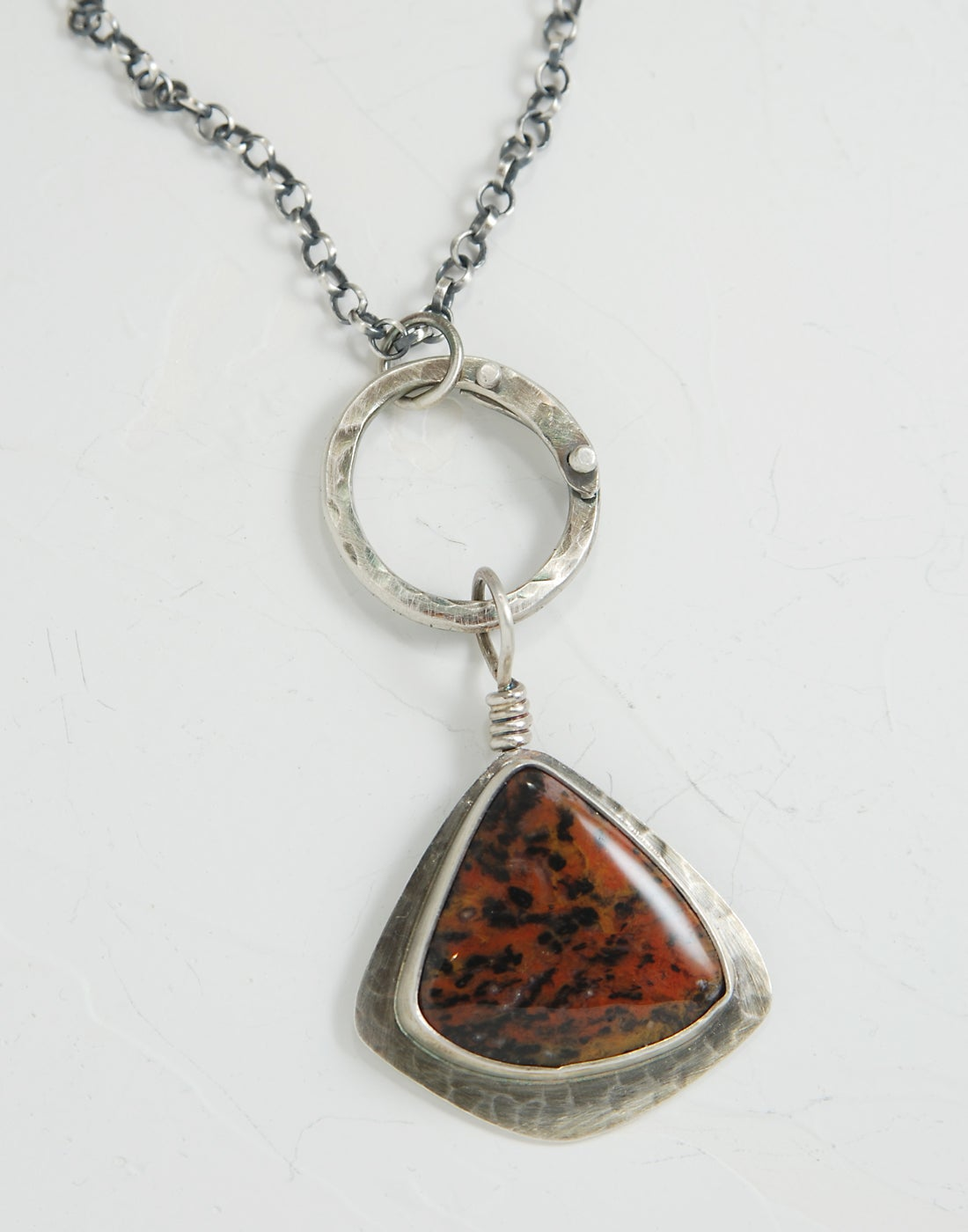 Image of Cheetah Agate, Sterling Silver Necklace
