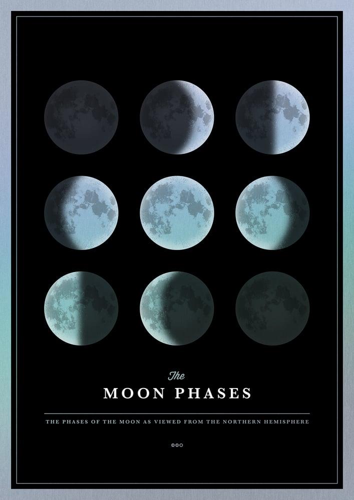 Image of Moon Phases Metallic Rainbow Edition | Artprint