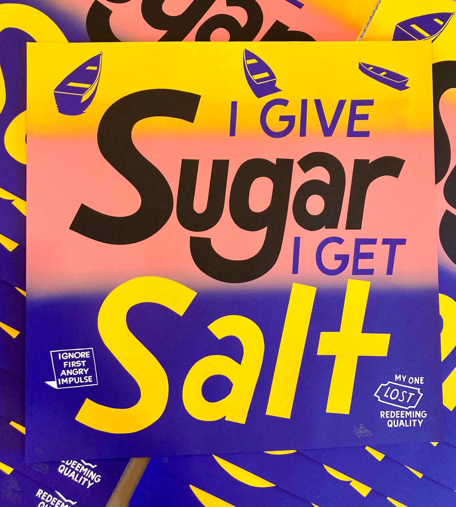 Image of I Give Sugar I Get Salt