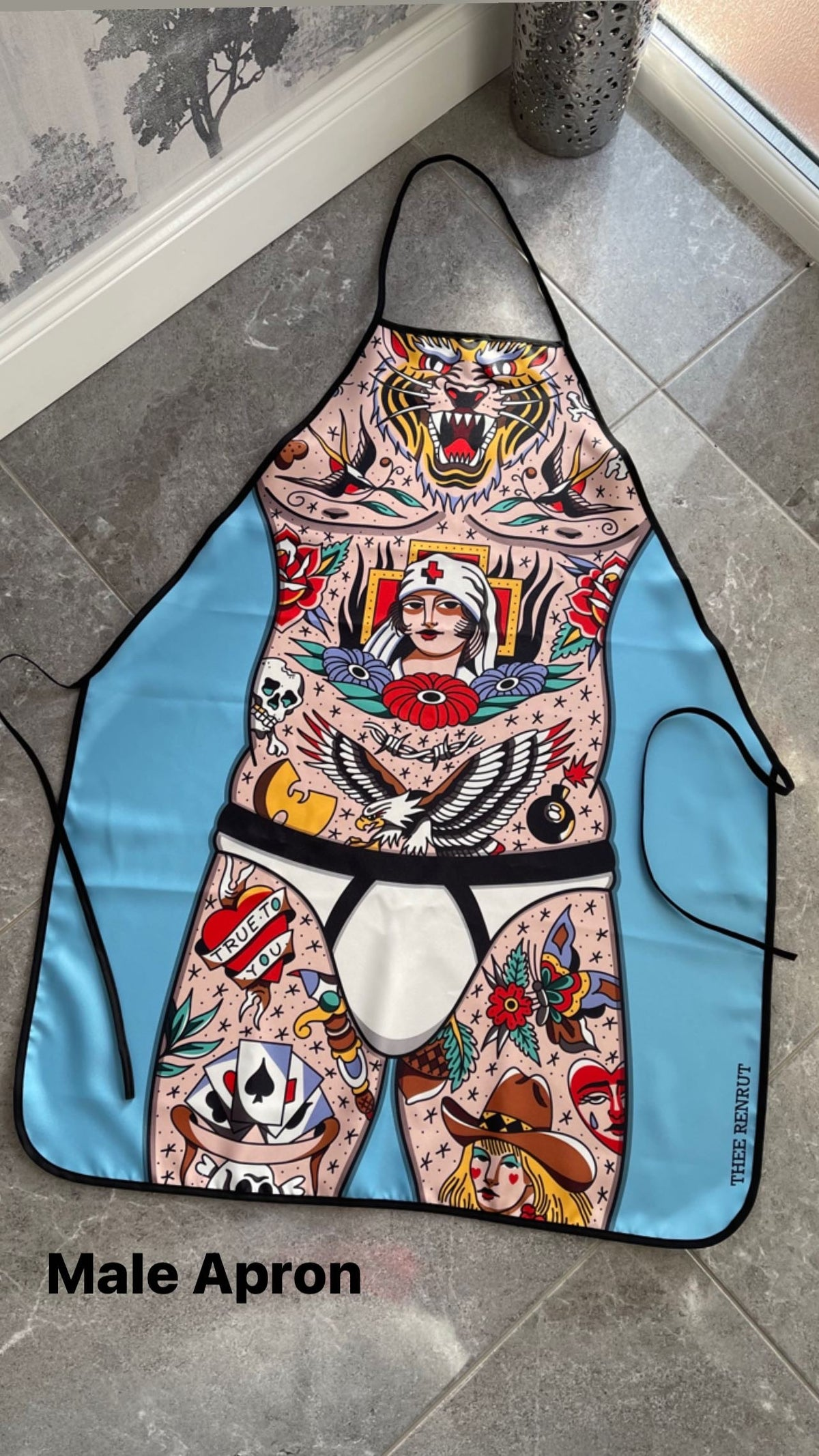 Tattooed Male Apron