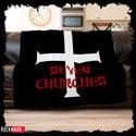 "Possessed ""Seven Churches"" Cozy Blanket"