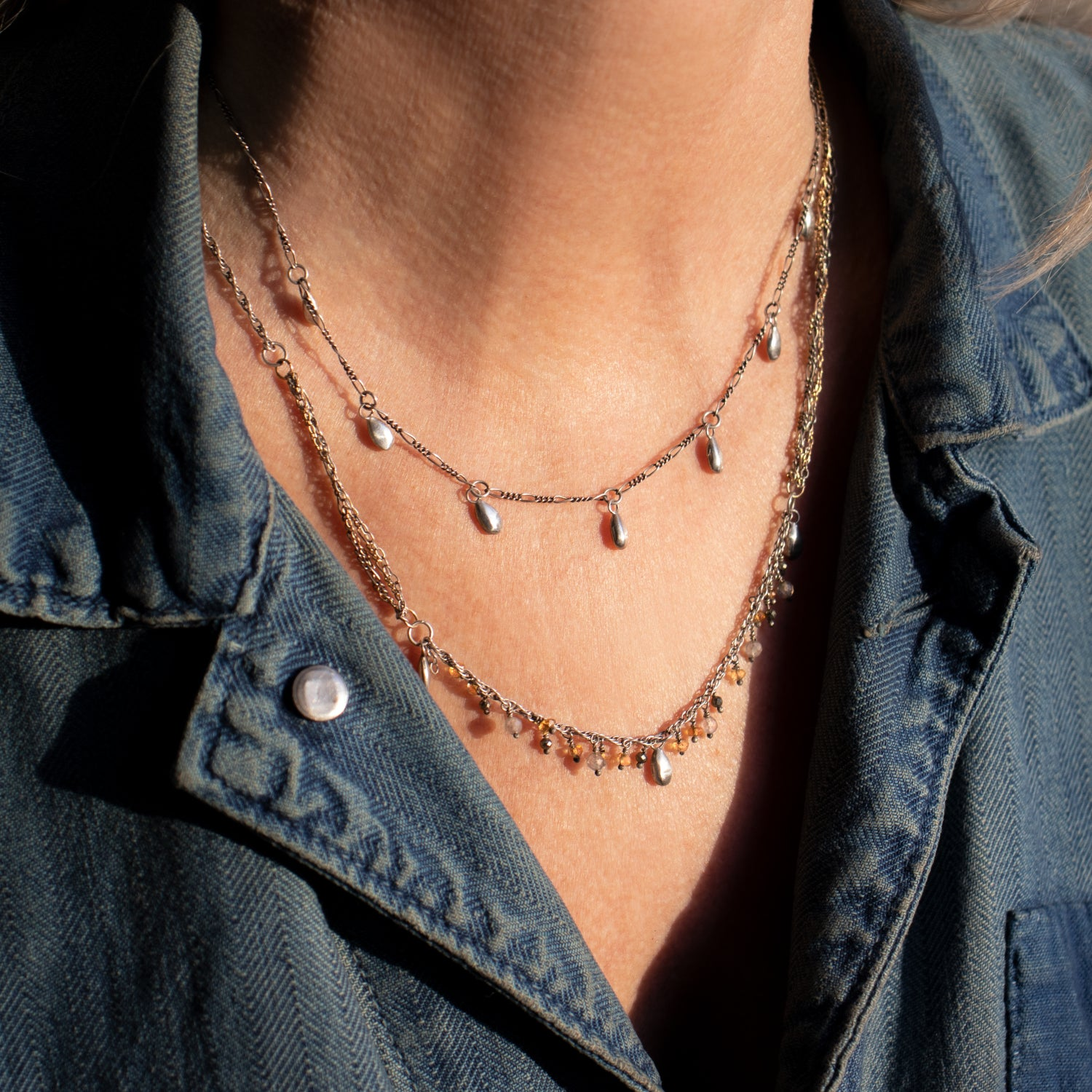 Image of Silver Seven Seed Necklace