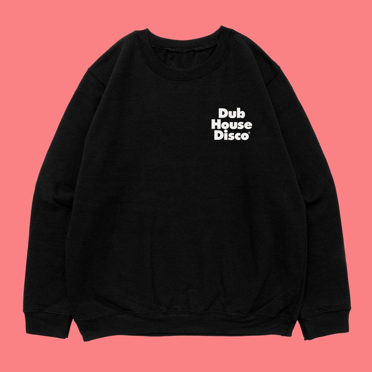 Image of Dub House Disco –White On Black Sweatshirt