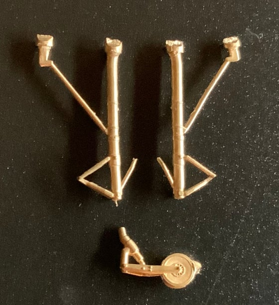 Image of Zlin Z-37 brass undercarriage set