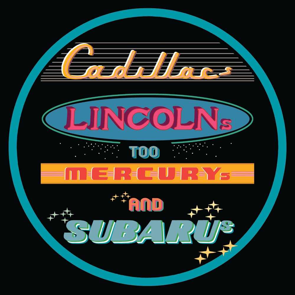 "Image of 12"" digital badge print, signed - CADILLACS, LINCOLNS TOO"