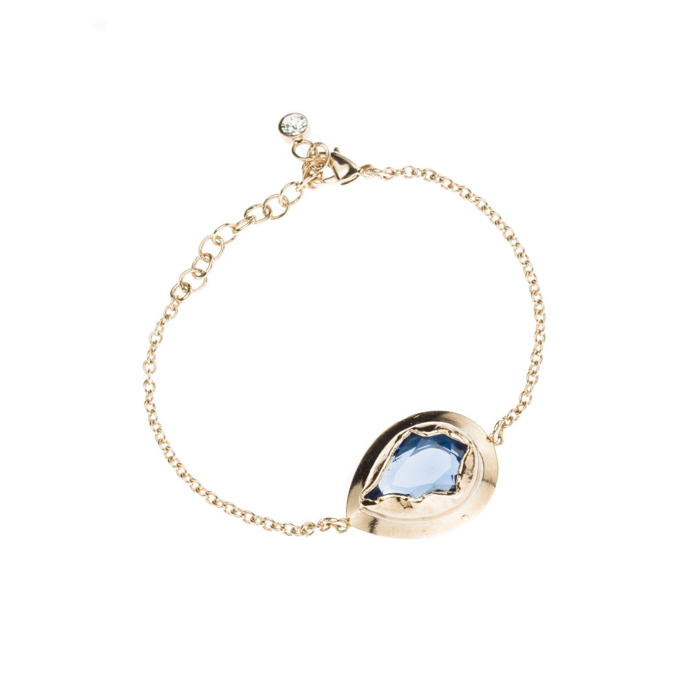 Image of BRACELET/ BRACCIALETTO BR107 GOLD BLUE