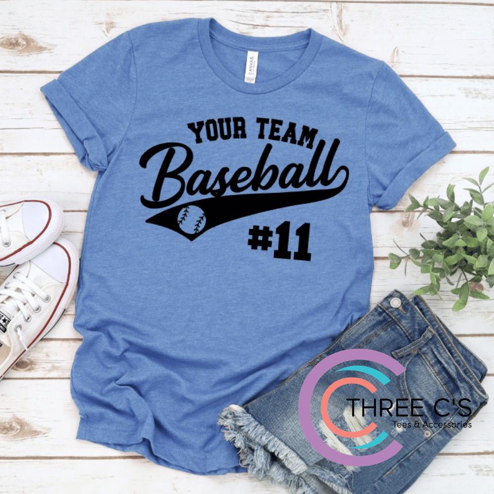 Image of Personalized Baseball Tee
