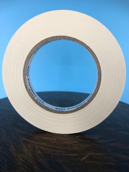 "Image of Burlington Recording 1/2"" x 180' PRO White Console/ Artist Tape on Hub"