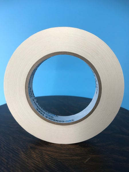 "Image of Burlington Recording 3/4"" x 180' PRO White Console/ Artist Tape on Hub"