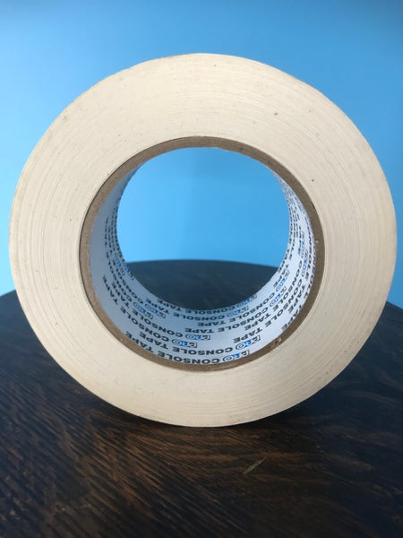 "Image of Burlington Recording 2"" x 180' PRO White Console/ Artist Tape on Hub"