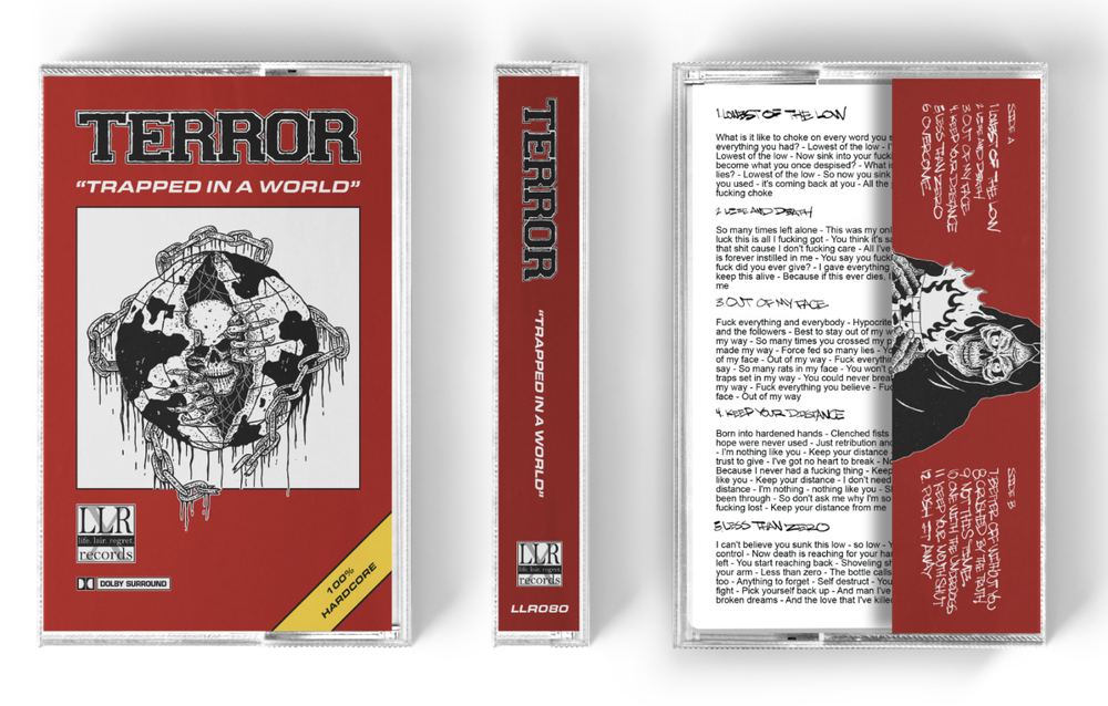 Image of LLR080 Terror - 'Trapped In A World' Cassette preorder