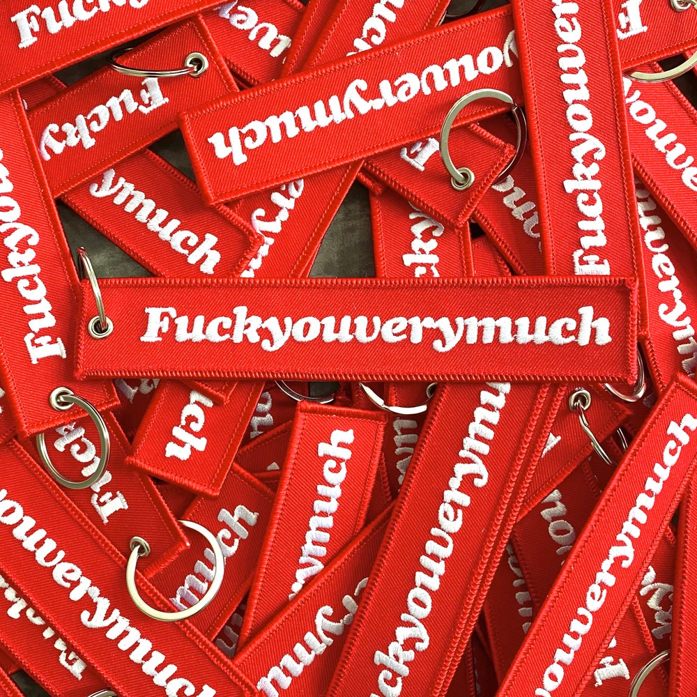 Image of Fuckyouverymuch flight tag