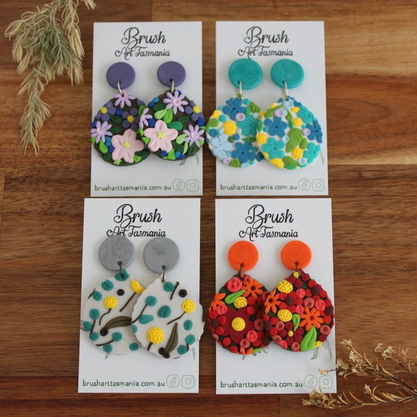 Image of Large Floral Earrings