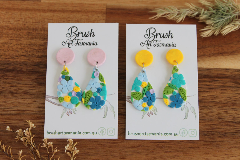 Image of Blue Floral Earrings