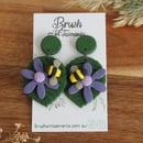 Image 1 of Bee on Flower Earrings
