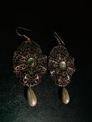 Image 2 of VINTAGE GOLD PEARL EARRINGS