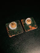 Image 3 of REWORKED SQUARE EARRINGS