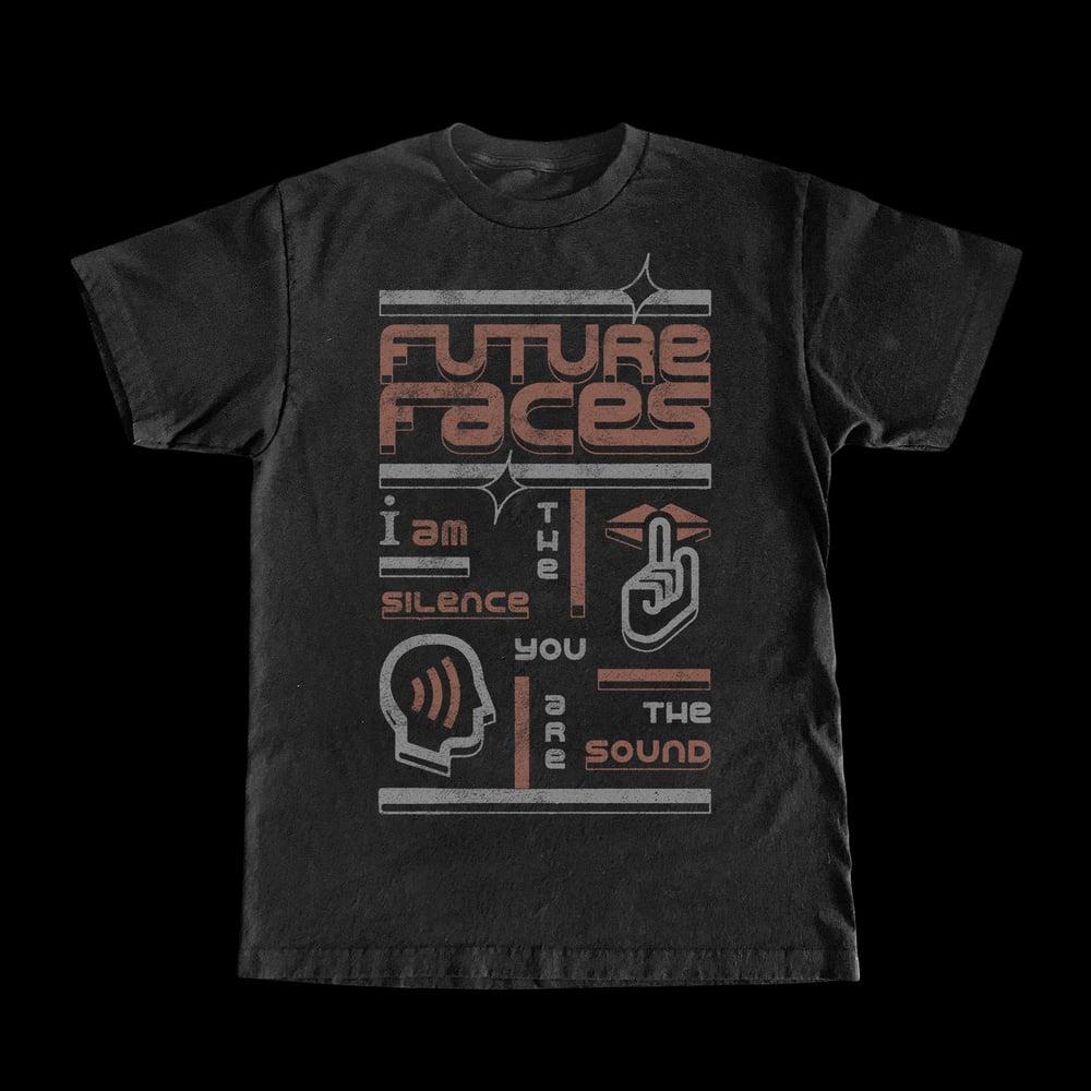 "FUTURE FACES ""SILENCE"" BLACK T-SHIRT"