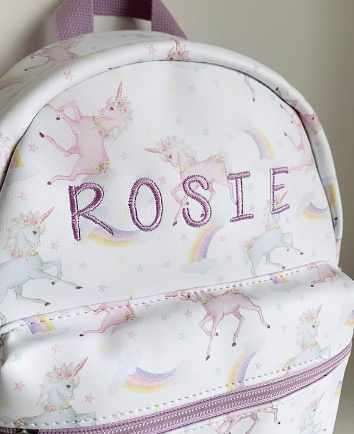 Image of ***NEW*** UNICORN Back Pack - CAN BE PERSONALISED