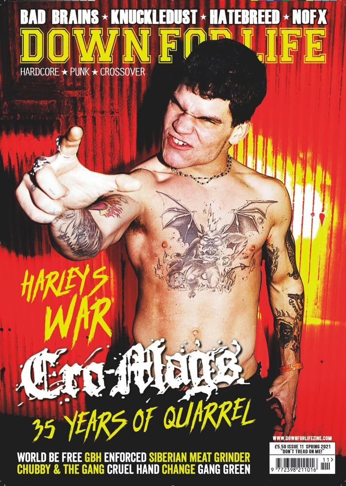 Image of DOWN FOR LIFE #11 CRO-MAGS - PRE-ORDER!
