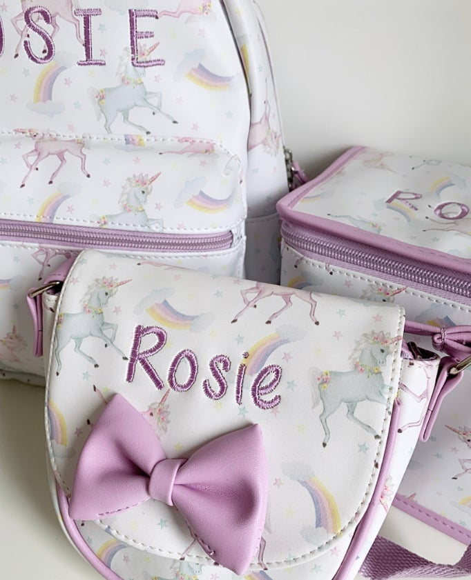 Image of UNICORN BOW BAG - CAN BE PERSONALISED