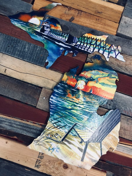 Image of Michigan Lake Love ( Hand painted Reproduction)