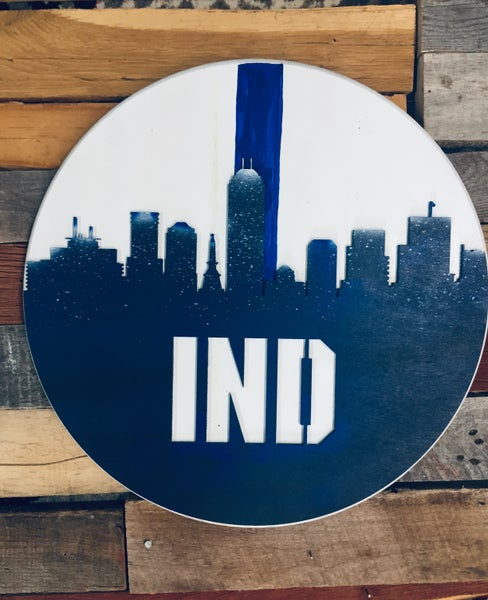 Image of IND skyline Colts Blue and White