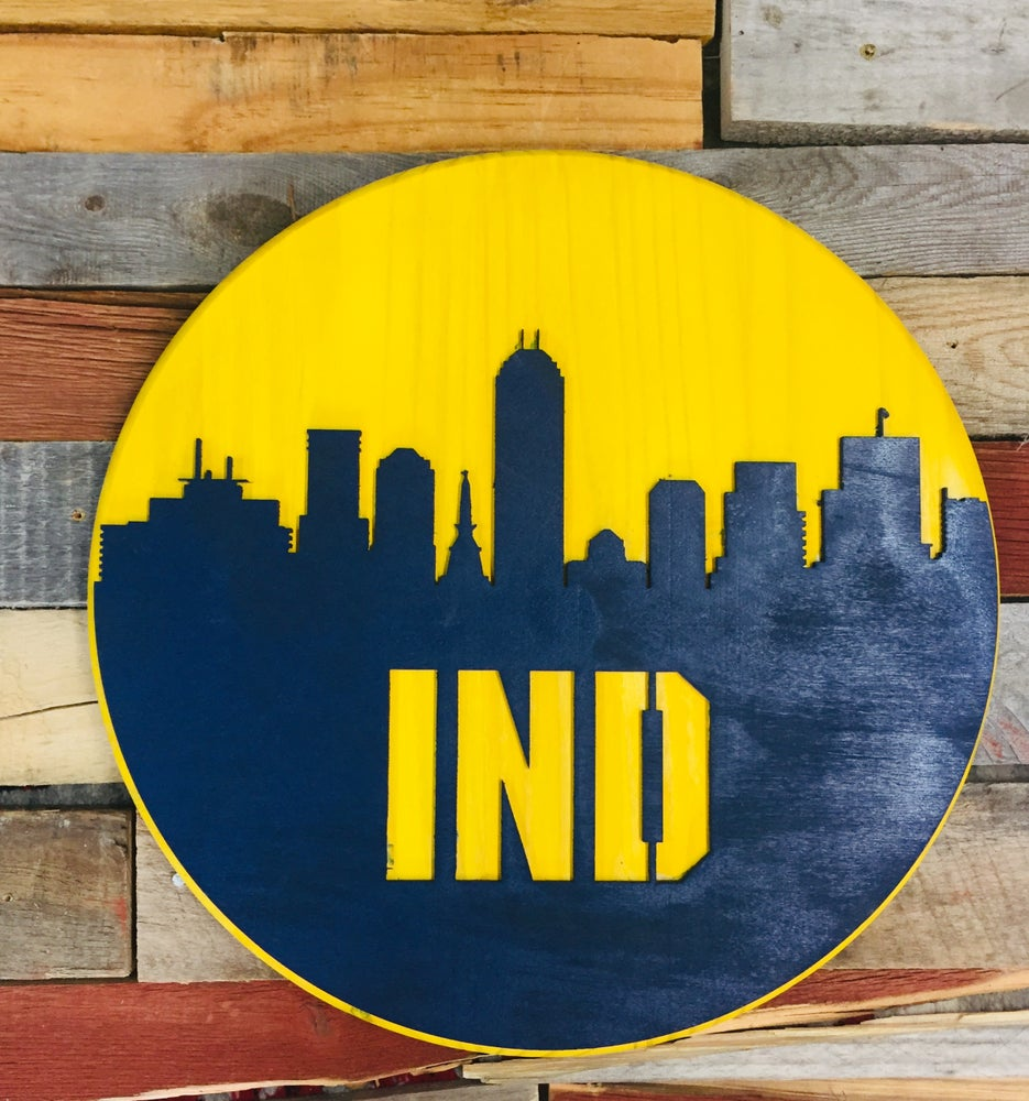 Image of IND Pacers colors Skyline