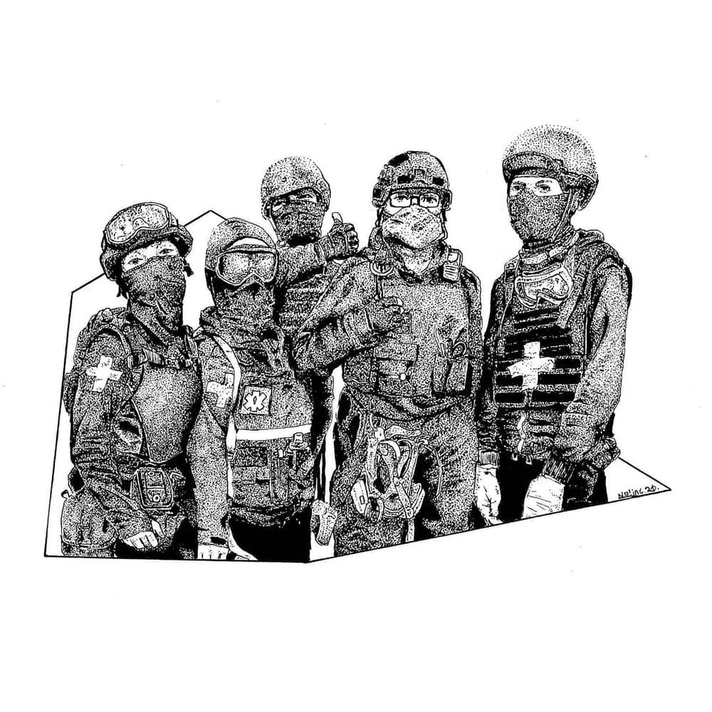 """Street Medics"" 5""×7"" prints"