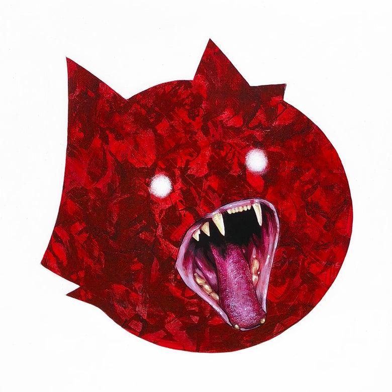 "Image of ""Fangs (Red)"" Original Painting"
