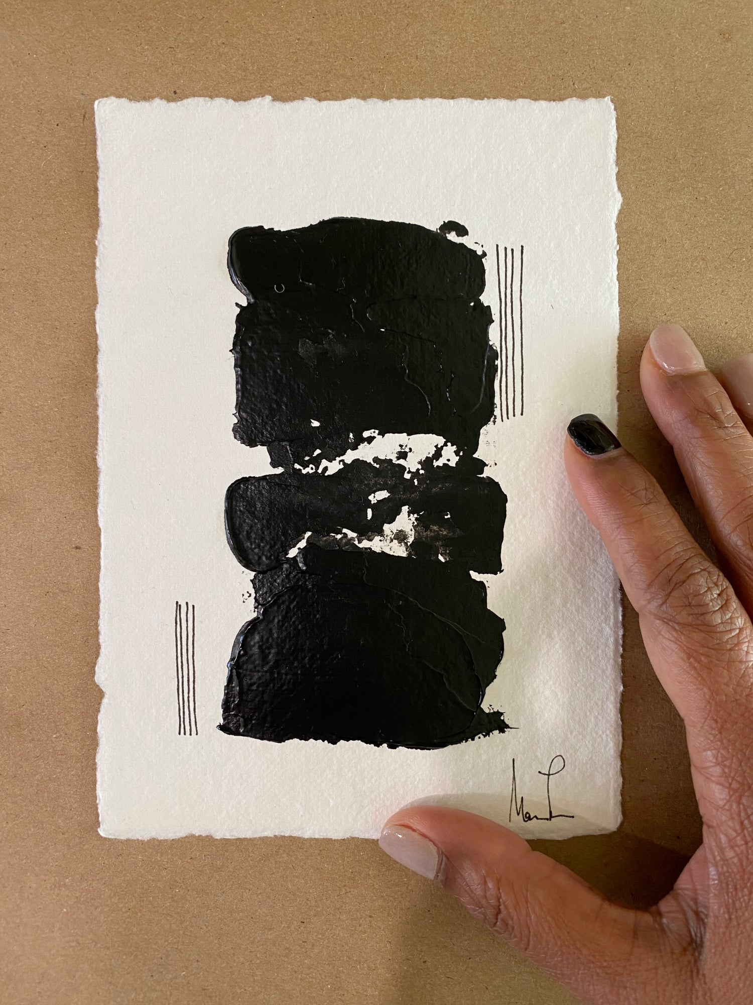 Image of Black Tie Cotton Rag (25)