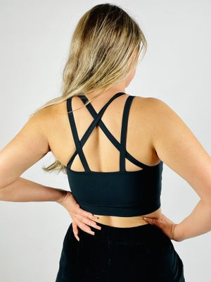 Image of DESIRE SPORTS BRA BLACK
