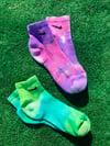 Tye Dye Check Socks