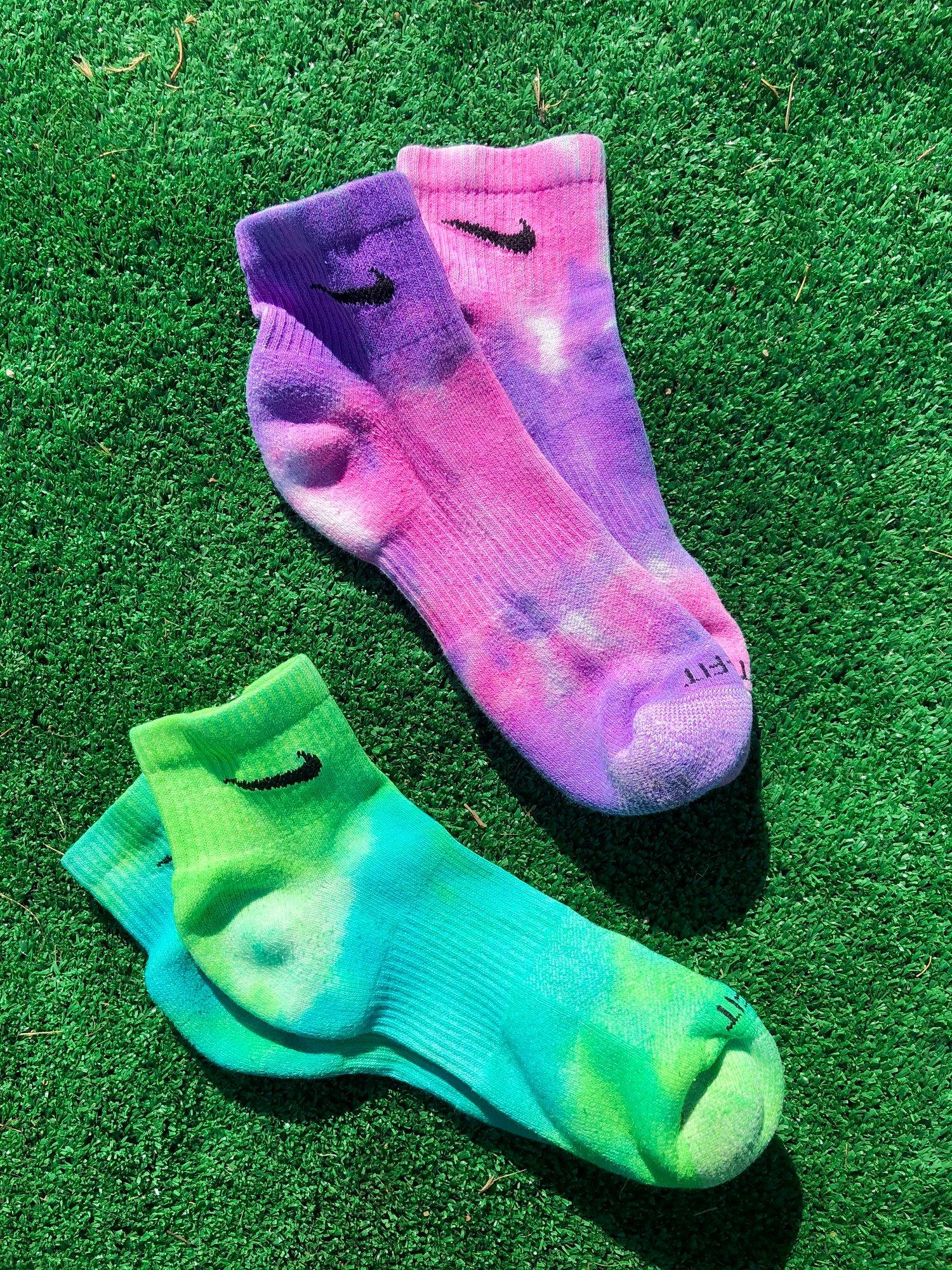 Image of Tye Dye Check Socks