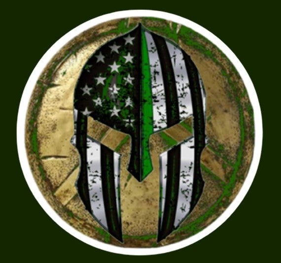 Image of GREEN LINE SPARTAN DECAL