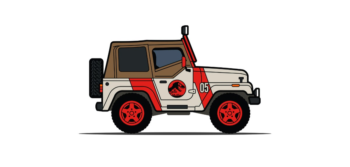 Image of Welcome to Jurassic Park - Leen Customs Pin