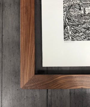 Alpine Meadow Framed in Salvaged Walnut