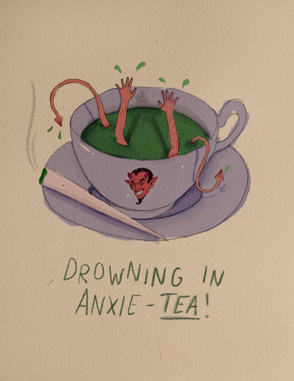 Image of anxieTEA Print