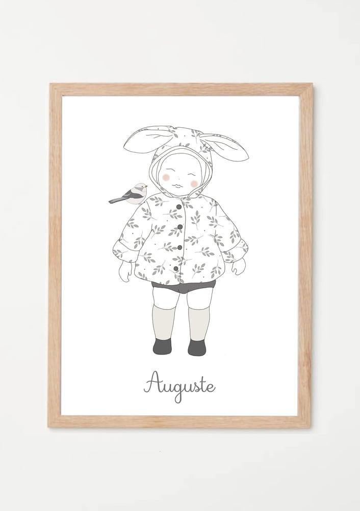 Image of Affiche Mon petit lapin garçon - personnalisable