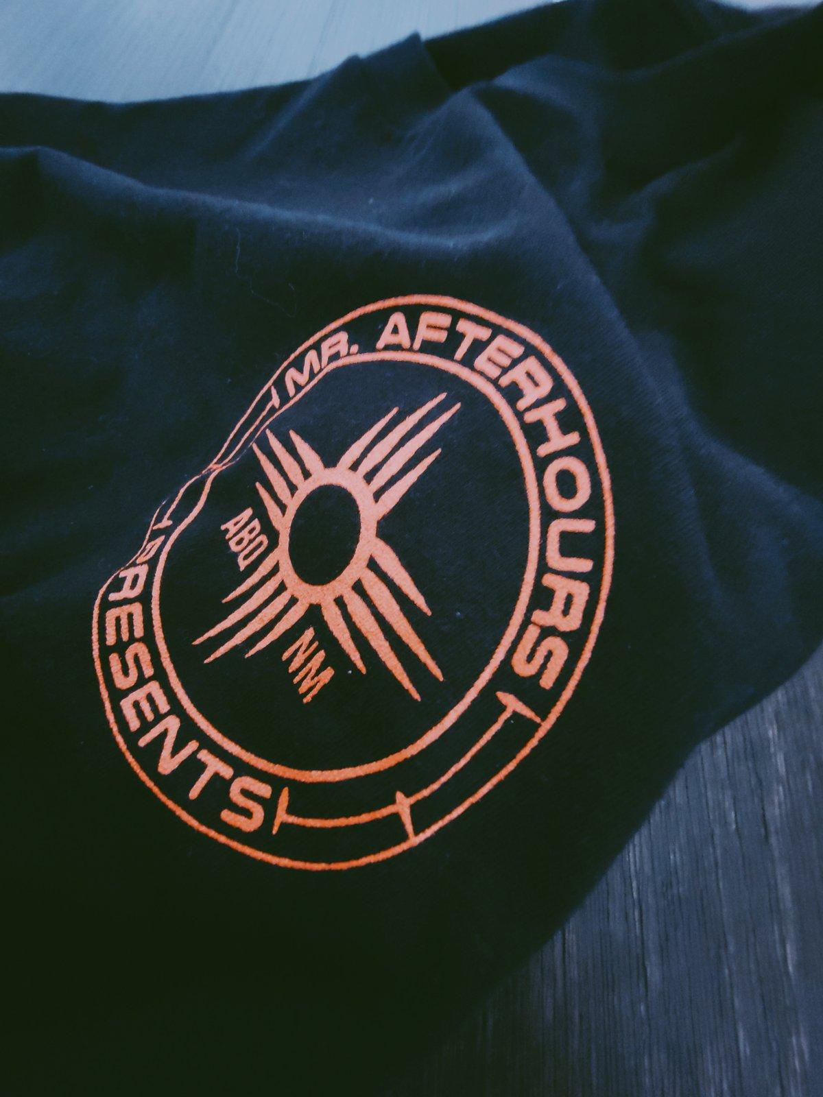 Mr Afterhours Orange on Black