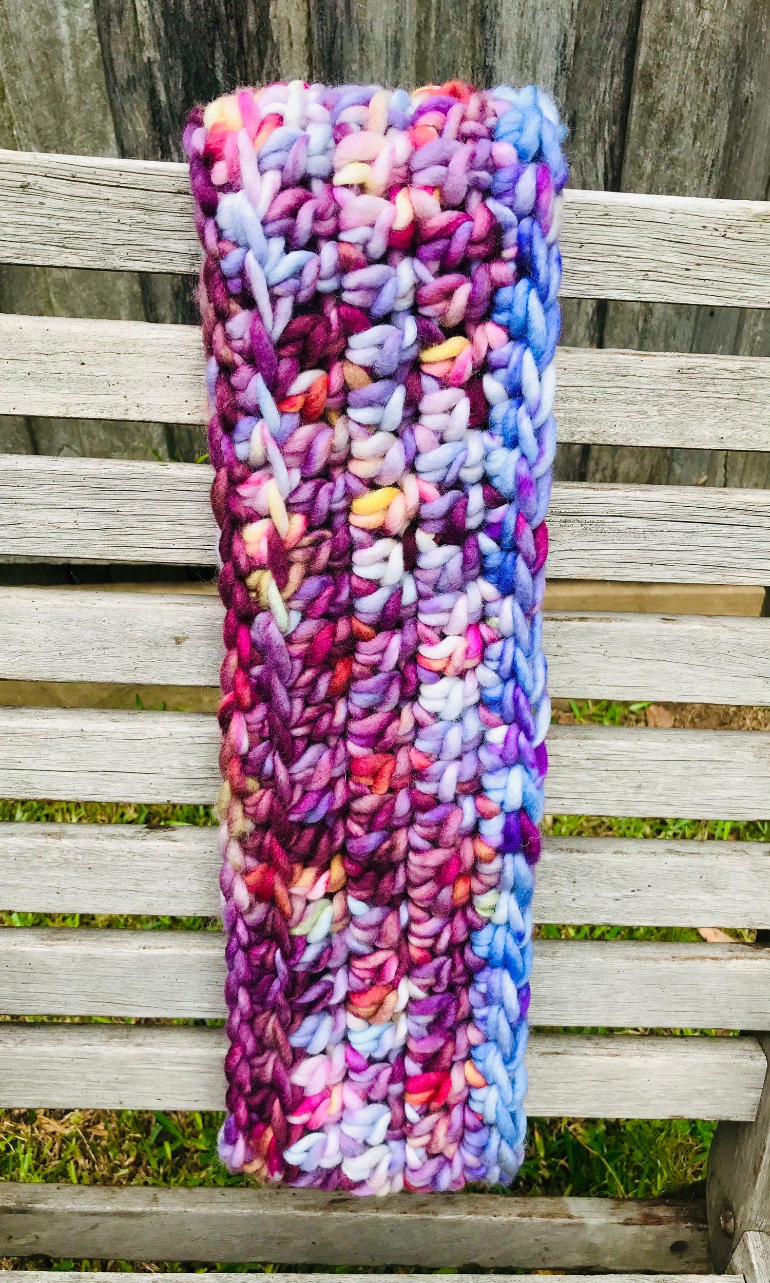 Image of Purple Rain Crocheted Cowl