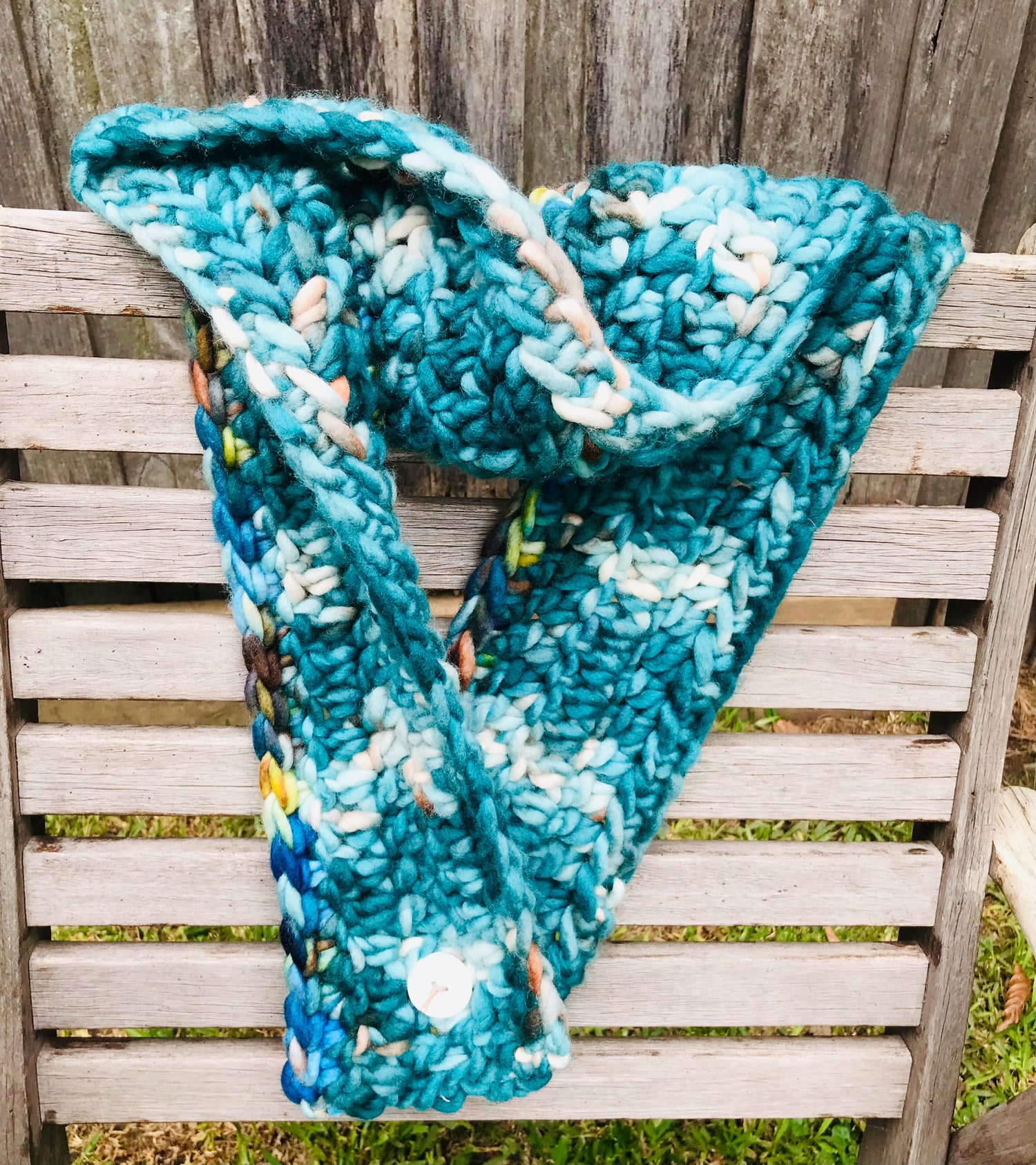 Image of Landscape Green Scarf or Cowl