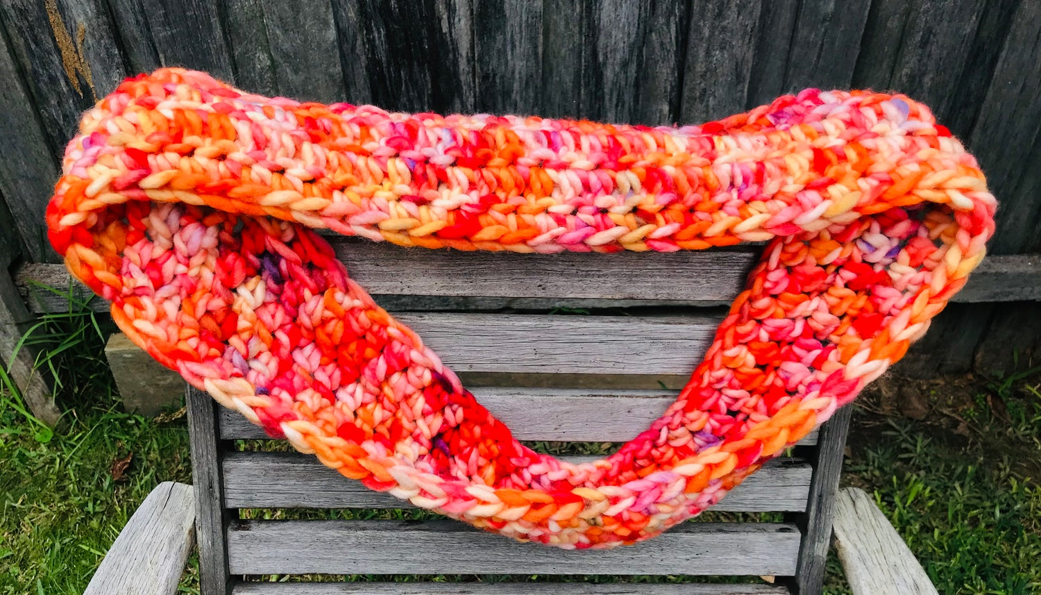 Image of Citrus Crocheted Cowl