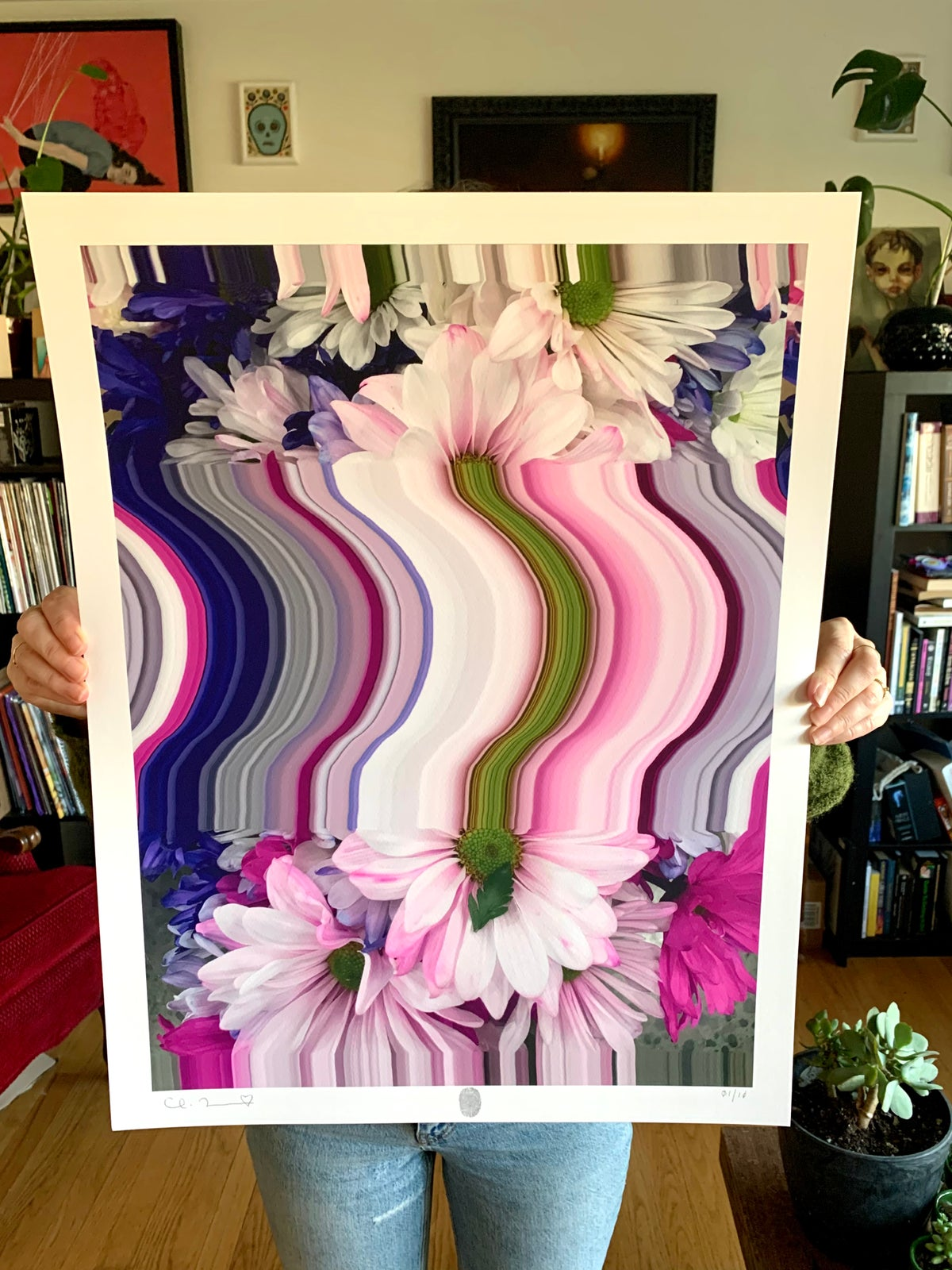 Image of Flowers Against Humanity 001 Limited Edition Giclee Fine Art Print