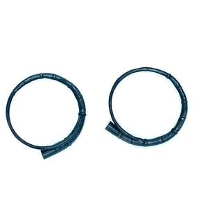 Image of Black Tendril Bangle Bracelet set 2