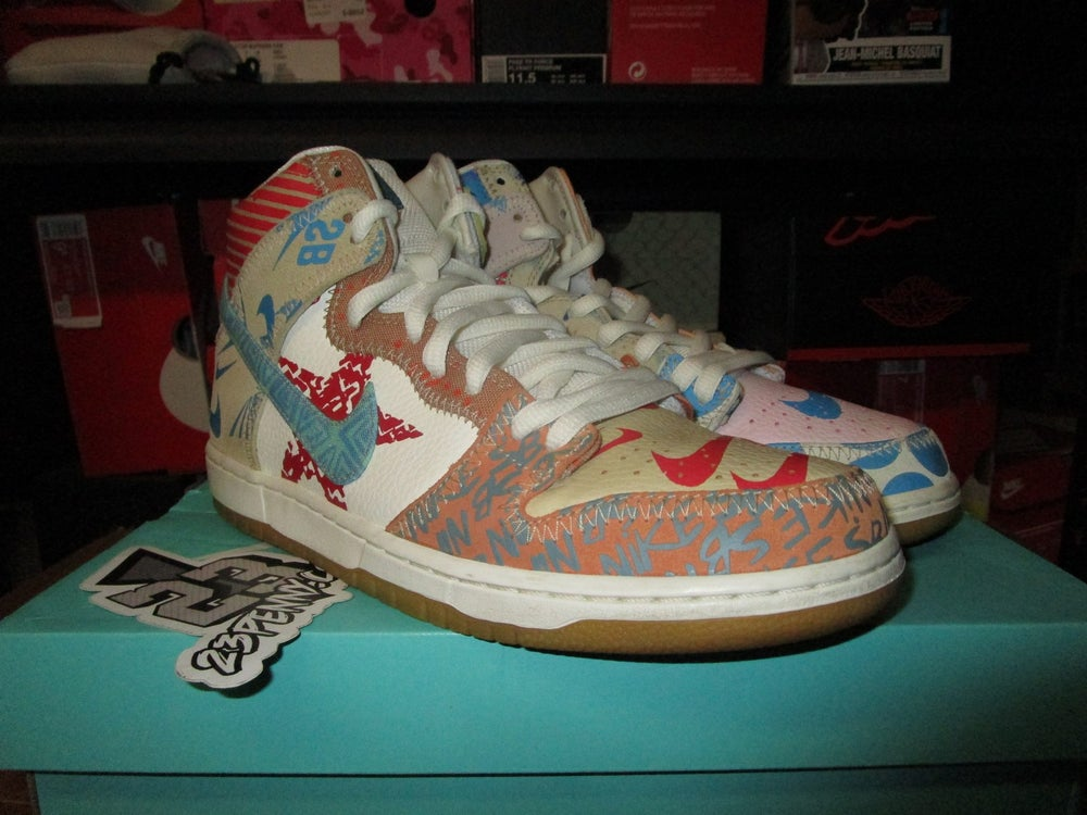 """Image of SB Zoom Dunk High x Thomas Campbell """"What the"""" *PRE-OWNED*"""