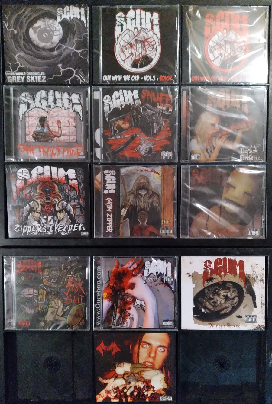 Image of NEW! SCUM 13 CD PACK including GREY SKIEZ!!!