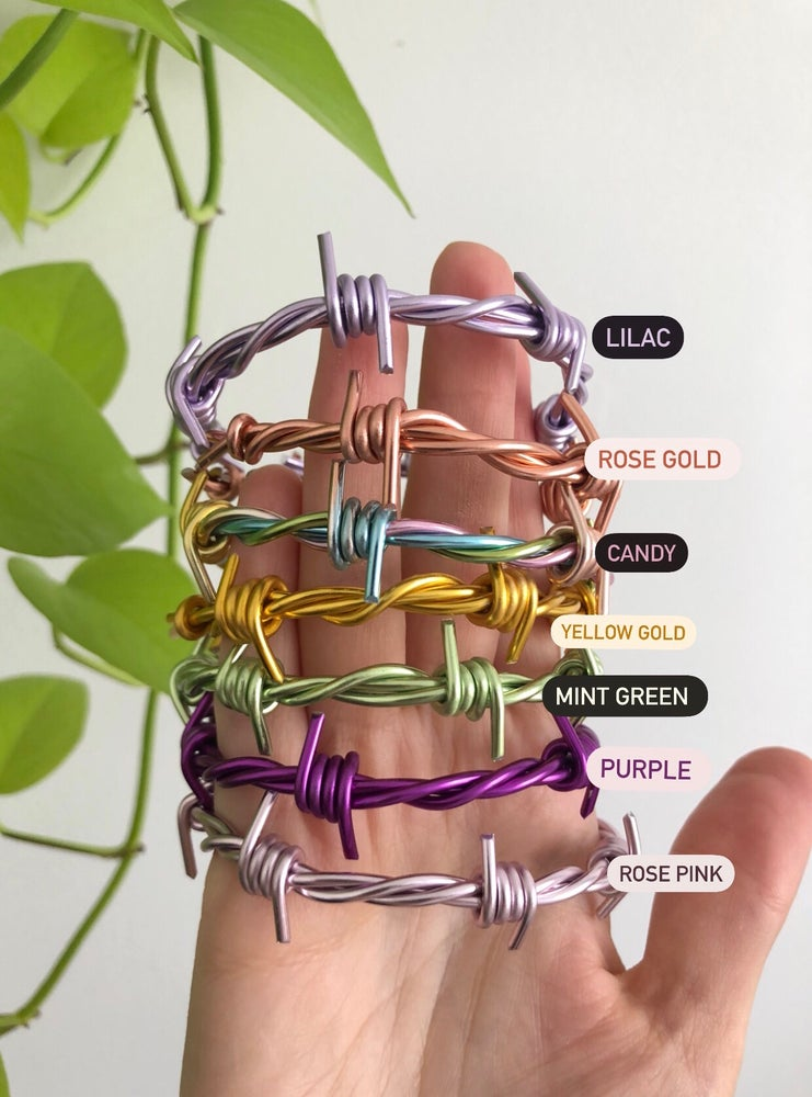 Image of BARBED WIRE CUFF / BANGLE