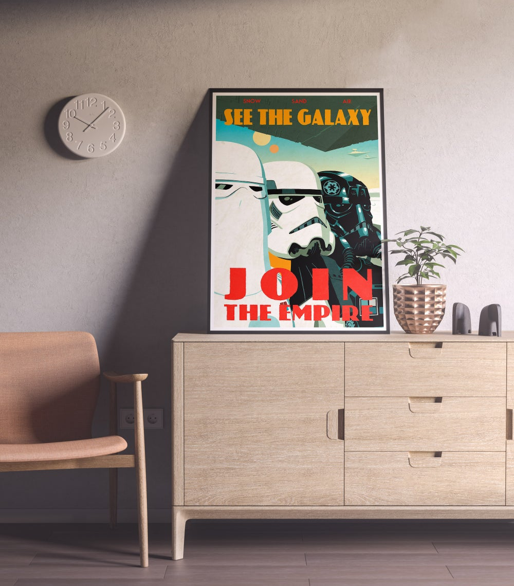 Join the Empire - Star Wars Poster, Propaganda posters, Star Wars Movies, Stormtrooper
