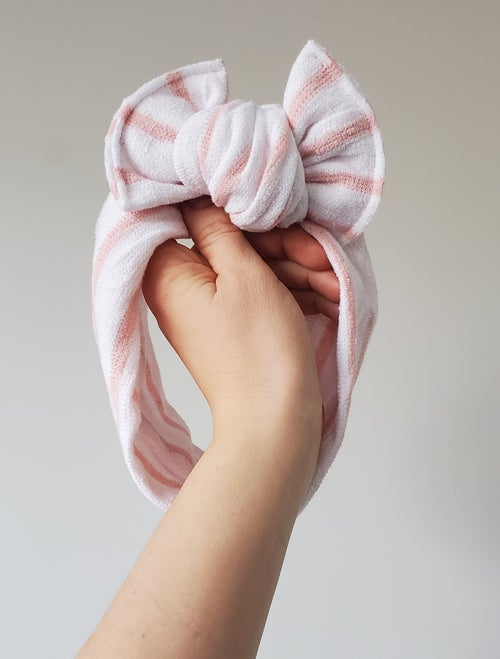 Image of Candystripe chunky bow headband